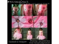 Personalised felt patchwork tutu dresses