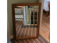 Quality Pine Mirror. Wood. Wooden. Potential shabby chiq paint project. Relsited, but NOW REDUCED!