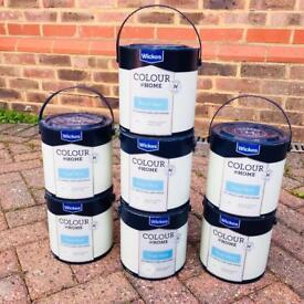 Wickes (sage green) vinyl matt paint - 7 pots