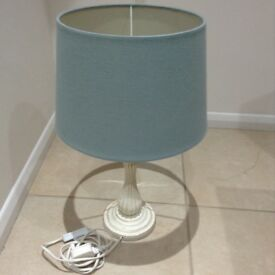 Blue Table Lamp with cream base