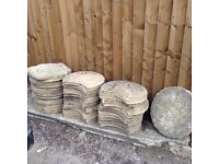 Selection of stone garden slabs
