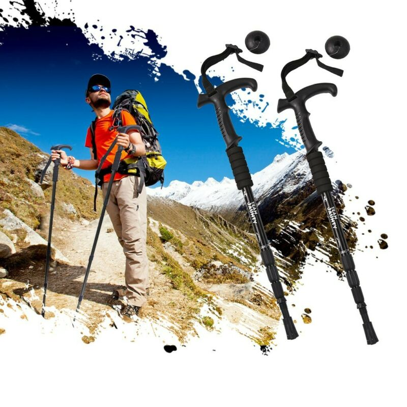 2x Trekking Walking Poles Hiking Sticks Trekking Trail Adjus