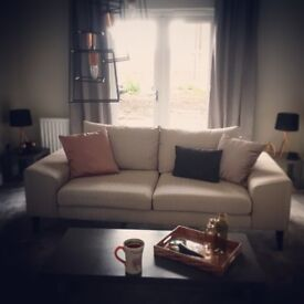 New Grey French Connection Sofa From Dfs