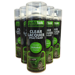 (1 CAN) Clear Laquer Spray Acrylic Top Coat for Plastic Steel Wood Metal 500ml