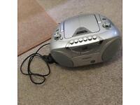 Hitachi radio disc and cassette player