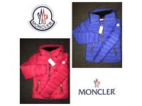 Women's MONCLER Jackets - Red / Blue - sizes 8 10 12 14