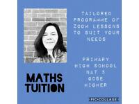 Maths tutor / tuition available during school hours