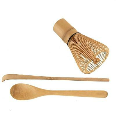 Matcha Set Chasen Tea Whisk + Chashaku Bamboo Scoop + Tea Spoon S-3702+3805