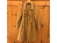 Beige camel coloured coat