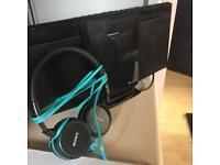 Panasonic CD player and Sony headphones