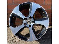 "1x 18"" VW GOLF GTI AUSTIN MK6 MK7 ALLOY WHEEL SPARE SINGLE 5x112"