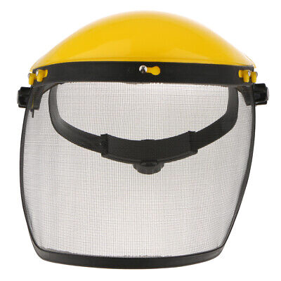 Face Shield Steel Mesh Visor For Weeding Sawing Wood Good View Yellowblack