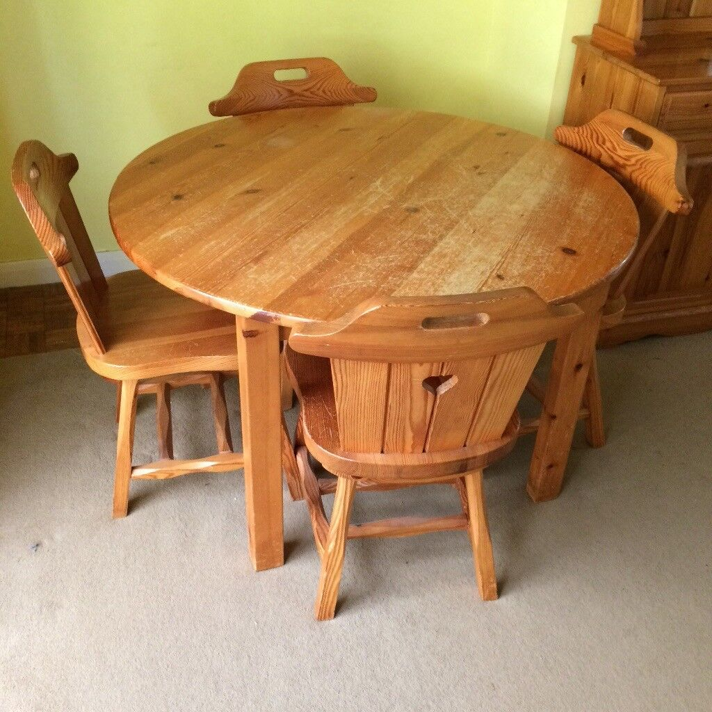 Solid Pine Dining Table & 4 Chairs | in Norwich, Norfolk ...