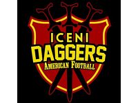 Iceni Daggers/Spears - Adult Full Contact American Football Teams Now Recruiting
