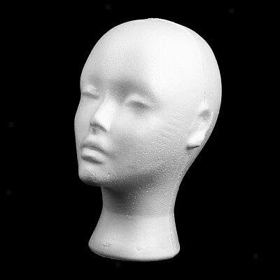 Female Styrofoam Foam Mannequin Manikin Head Model Hat Glasses Display