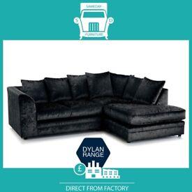 😌AHEM New😌2 Seater £169 3 Seater £195 3+2 £295 Corner Sofa £295-Crushed Velvet Jumbo Cord Brand😌