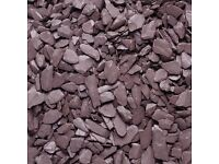 Plum Slate Chippings 1000kg Bulk Loose Delivery