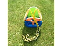Baby/ toddler swing seat - used but in great condition apart from faded colours