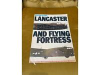 Vintage Lancaster bomber antique large wall chart , weapons of war magazine