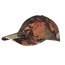 Jack Pyke KIDS Baseball Hat English Oak Camo Fishing Airsoft Paintball