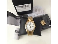 Timex Watch Gold Stainless Steel NEW, see receipt