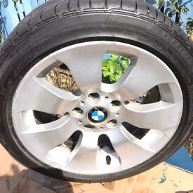 "BMW 17"" alloy wheel with tyre"