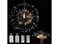 Firework Lights 2 Packs - 150 LED Warm White and Cold White Light