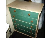 small cheerful chest of drawers can deliver