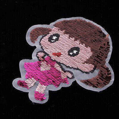 Flip-mädchen (Bügelbild Doppelseitig Flip - Mädchen Aufnäher Applikation mit Paillette)