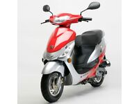 PEUGEOT V-CLIC 50cc 2010 plate Red/Silver