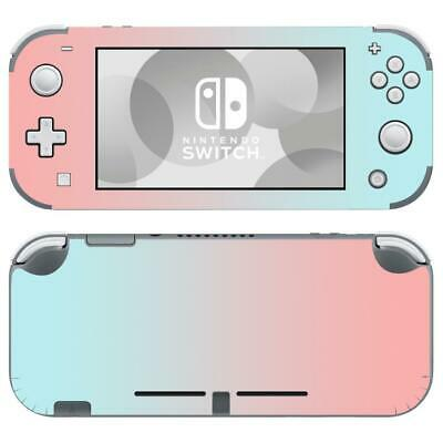Nintendo Switch Lite Console Vinyl Skins Stickers Decals Pastel Pink Teal Colors