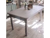 Shabby Chic Chunky Country Farmhouse Dining Table