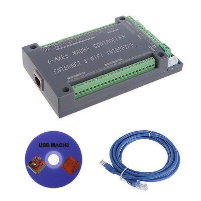 Nvum 6axis Cnc Controller Mach3 Ethernet Interface Board Card Fr Stepper Motor