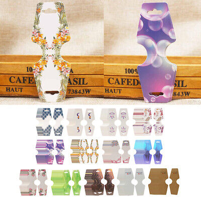 100pc Necklace Folding Card Jewelry Earrings Display Package Cards Tag