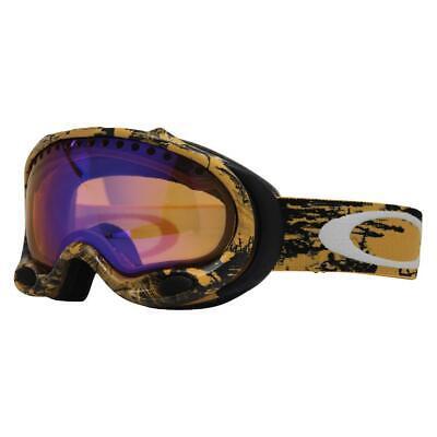 Oakley 25-230 A Frame Orange Ever Camo HI Persimmon Lens Mens Snow Ski Goggles .