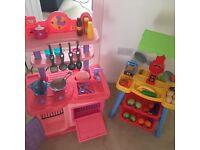 Kids kitchen and shop