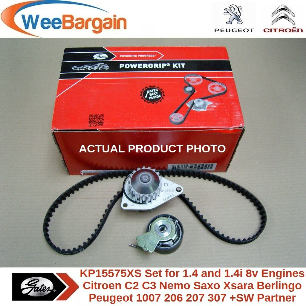 Timing Belt Bmw Inside Citroen Peugeot 14 14i 8v Genuine Gates Kp15575xs Kit Water Pumpc2 C3 Berlingo Xsara 106 206 207 306 307 Sw Partner