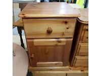 Solid wood bedside