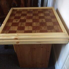 Brand new handmade chessboard