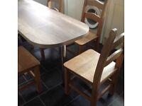 Wooden kitchen chairs (4)