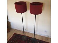 Matching maroon floor lamp set - MUST GO NOW