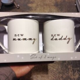 New mummy and daddy mugs