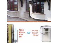 Damp proofing, energy saving coatings, insulation