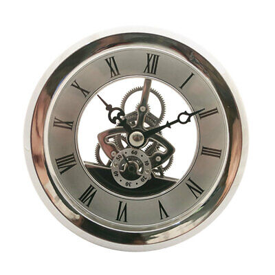 103mm Dial Silver Bezel Skeleton Clock Insert Movement with Roman Numbers ()