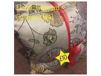 4 Floral Jacquard Cushions
