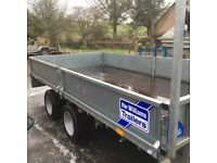 Ifor Williams flat bed trailer 3,500 kg. Immaculate condition. No offers.