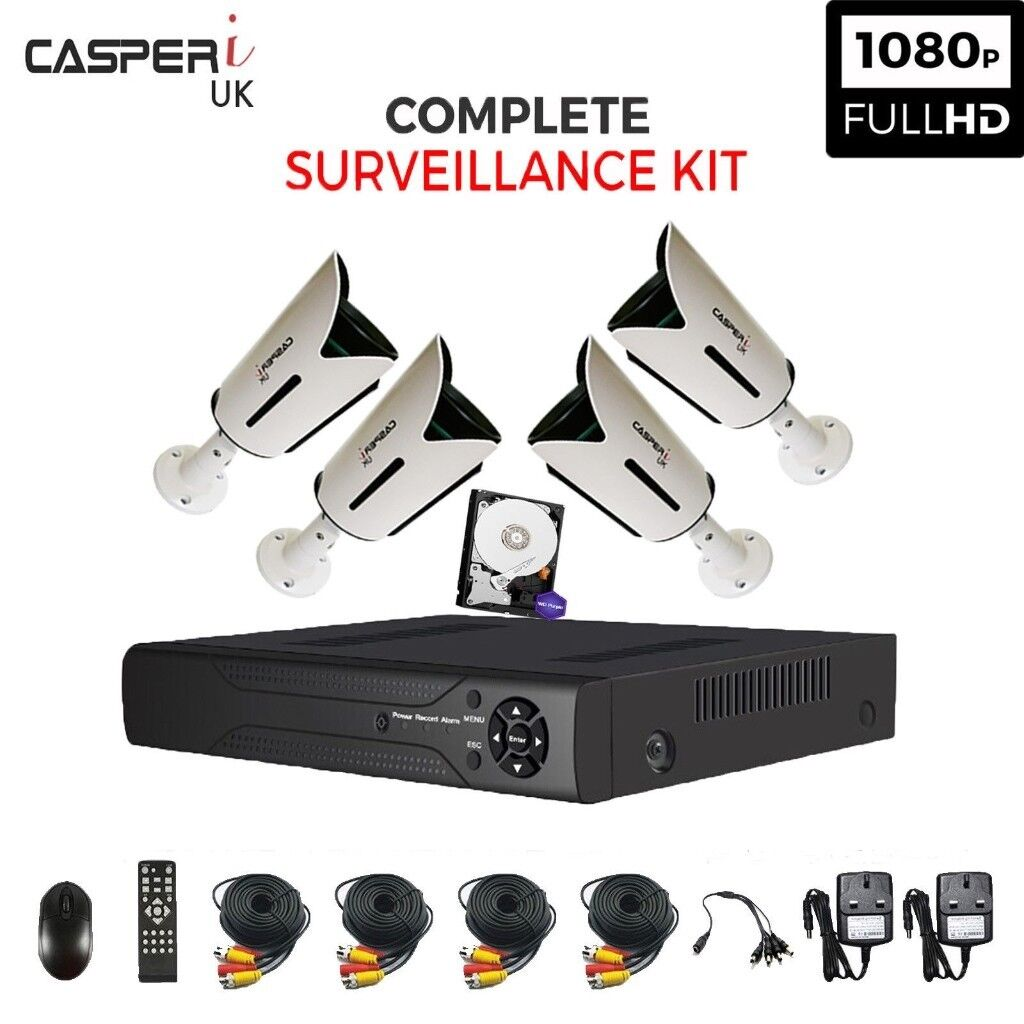 4CH Complete HD DVR CCTV Kit 1080p 2.0MP