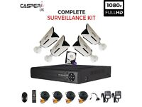 4CH Complete HD DVR CCTV Kit 1080p 2.0MP Bullet Cameras IR In/Outdoor Monitoring