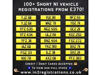 100+ NEW! Short NI Number Plates from £370 - Cherished Personal Private Registration plates.