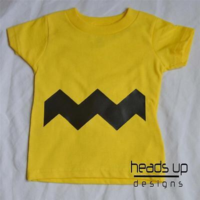 Charlie Brown Shirt Charlie Brown Costume Baby Bodysuit Boy Grl Kid Newborn Adlt